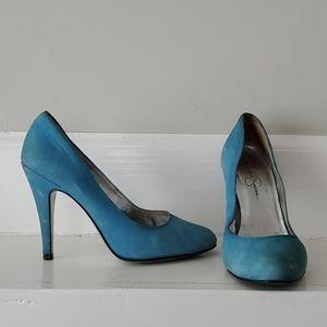 Jessica Simpson Baby Blue Suede Heels